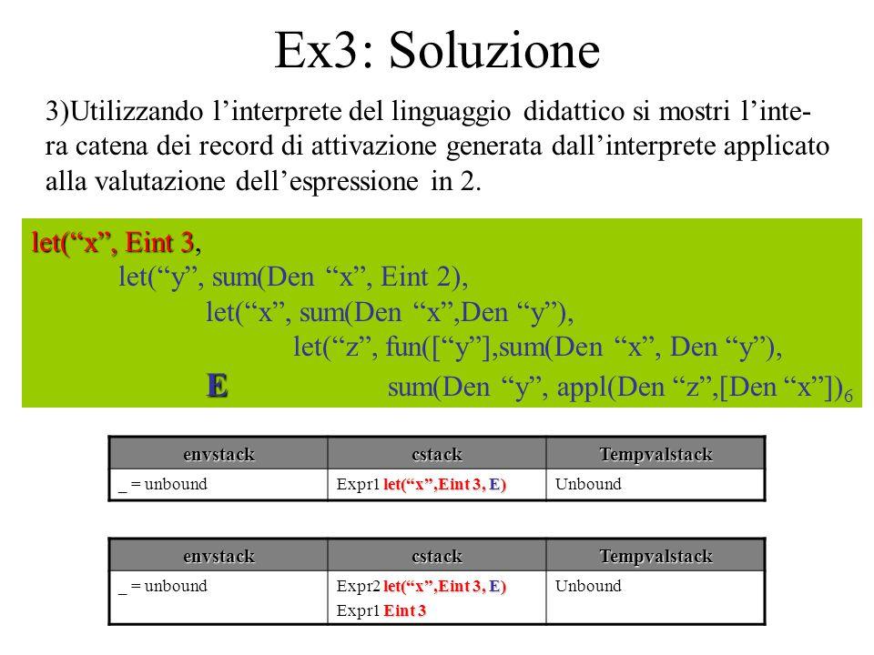 Ex3: Soluzione E sum(Den y , appl(Den z ,[Den x ])6